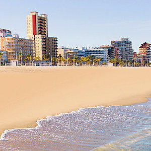 Gandia beach in Valencia Mediterranean Spain