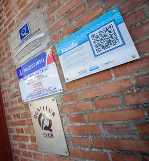 Tourist info and certificate of quality on the wall