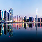 Panoramic view of the Dubai downtown.