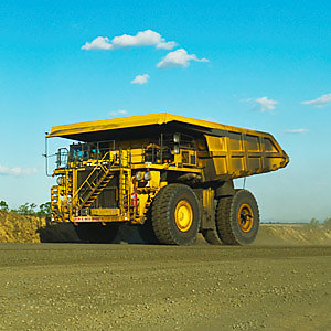Large Haul Truck on mine haul road