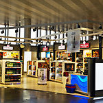 Duty free shop in airport Sheremetyevo - International  airport, one of the three major airports in Moscow and Moscow region, have greatest passenger traffic in Russia