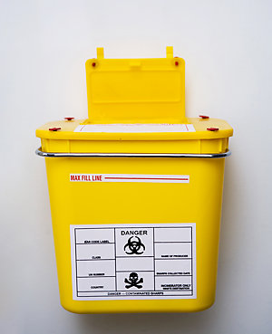 Sharps container.