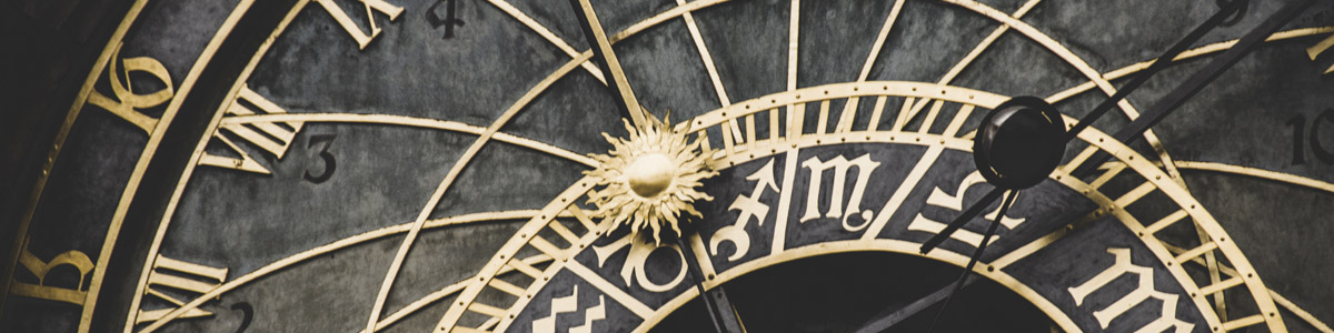 Detail of the Astronomical Clock in Prague, Czech Republic.