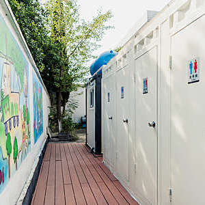 Eco-San toilet installed in a primary school in the Chinese province of Jiangsu.
