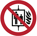 Graphical symbol: Do not use lift in the event of fire