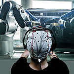 Human brain controlling computer robotics interface for human robotics cooperation