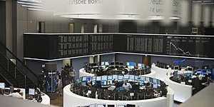 Trading floor at the Deutsche Börse stock exchange.