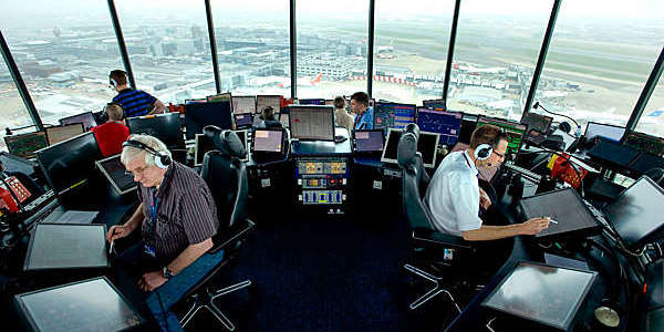 NATS, Heathrow airport control tower.