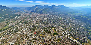 Aerial view of Grenoble