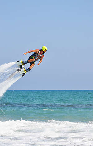 The new spectacular extreme water sport called flyboard.