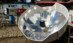 Solar cooker at the Tengboche monastery in the Khumbu region of Nepal.