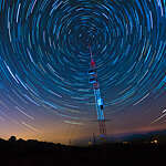 Satellite Communications Under A Starry Sky