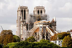 Notre Dame de Paris, after fire.