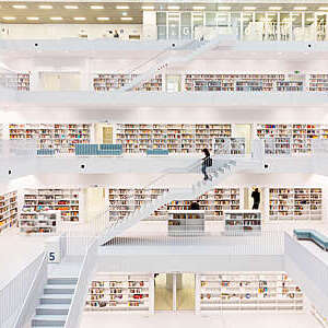 Public library of Stuttgart, Germany
