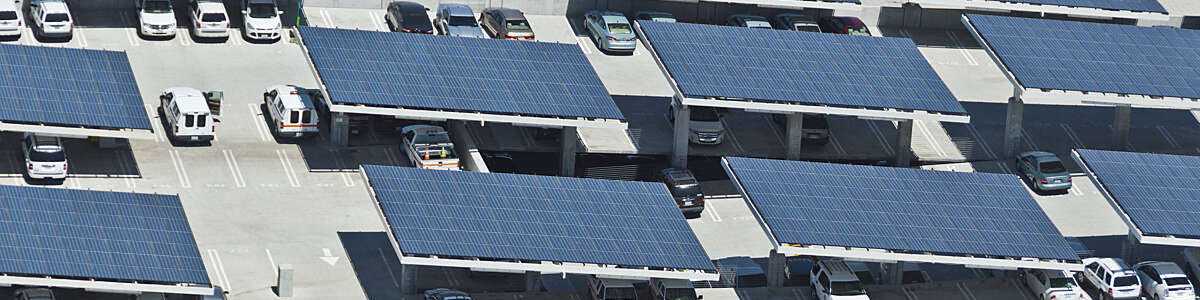 A multi-level solar parking facility in San Diego, California.