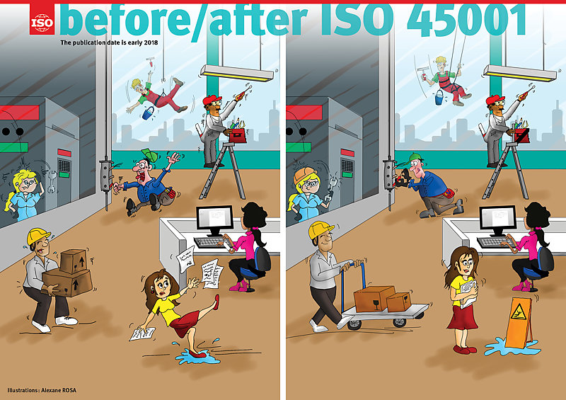 Infography: before/after ISO 45001 [PDF]