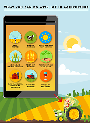 Infographic: What you can do with IoT in agriculture