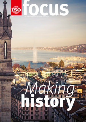 Cover page:  ISOfocus July/August 2017 - Making history