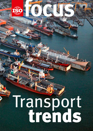 Cover page:  ISOfocus September/October 2017 - Transport trends