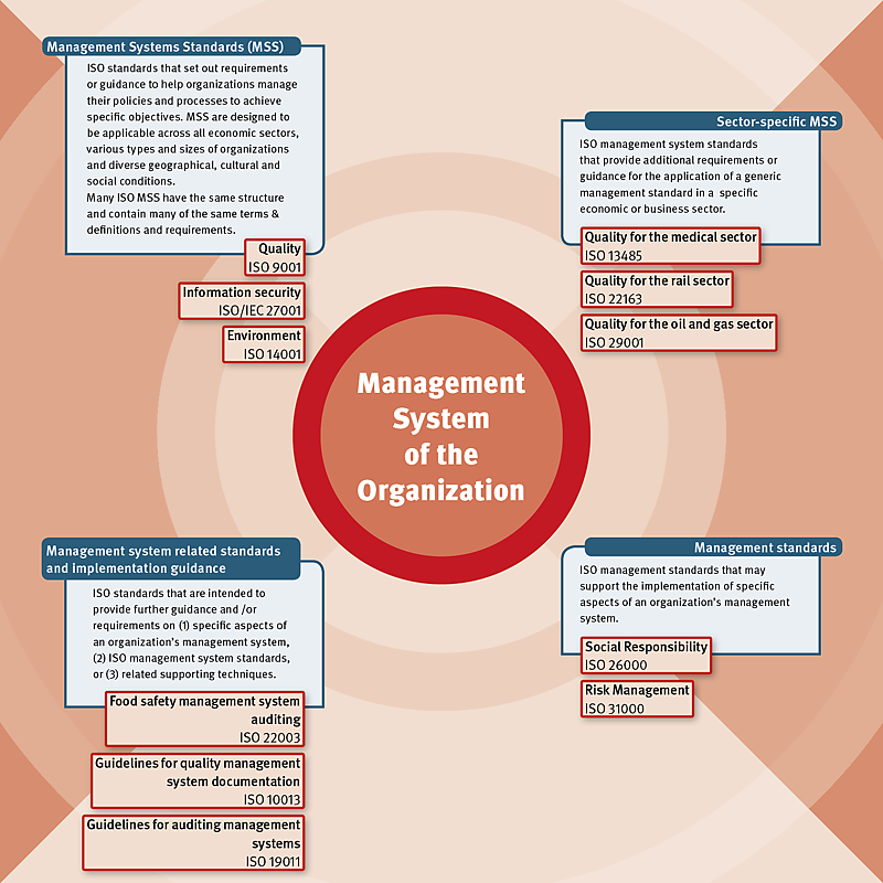 Management standards, management systems standards and related standards