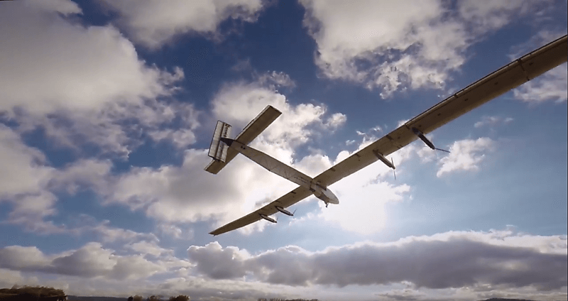 Solar impulse solar plane taking off in Switzerland