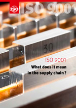 Cover page: ISO 9001 - What does it mean in the supply chain?