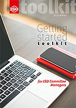 Cover page: Getting started toolkit for ISO committee Managers