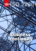 Cover page: ISO 22301 - Business continuity