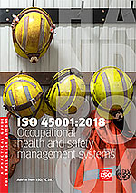 Cover page: ISO 45001:2018 - Occupational health and safety management systems - A practical guide for small organizations