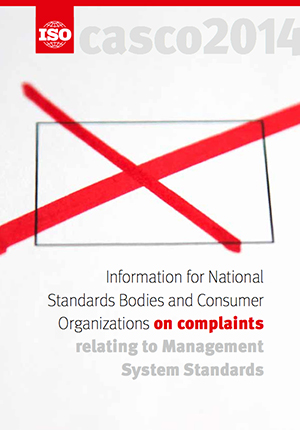 Cover page: Information for National Standards Bodies and Consumer Organizations on complaints relating to Management System Standards