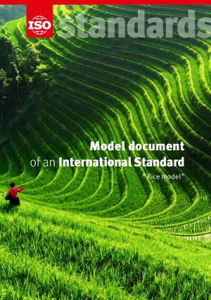 Титульный лист: Model document of an International Standard - Rice model