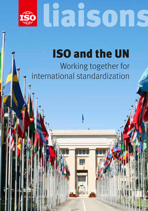 Cover page: ISO and the UN - Working together for international standardization