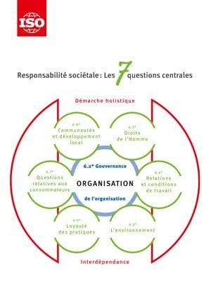 Page de couverture: Responsabilité sociétale - Les 7 questions centrales d'ISO 26000