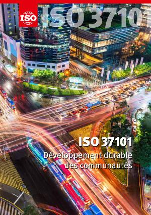 Page de couverture: ISO 37101 - Développement durable des communautés