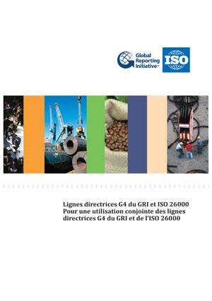 Page de couverture: Lignes directrices G4 du GRI et ISO 26000