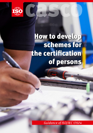 Титульный лист: How to develop schemes for the certification of persons - Guidance of ISO/IEC 17024