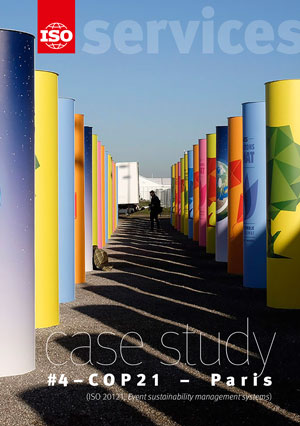 Cover page: ISO Strategy for Services - Case study #4 - COP21 Paris (ISO 20121, Event sustainability management systems)