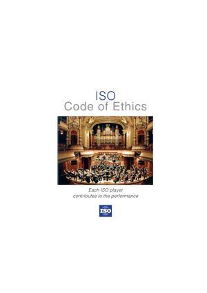 Page de couverture: Code d'éthique de l'ISO