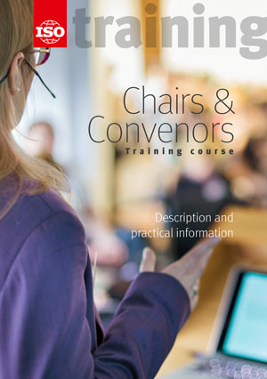 Cover page: Chairs & Convenors Training course