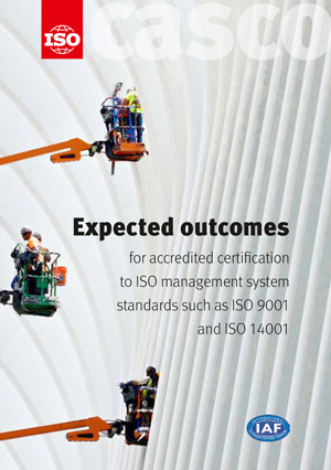 Cover page: Expected outcomes for accredited certification to ISO management system standards such as ISO 9001 and ISO 14001
