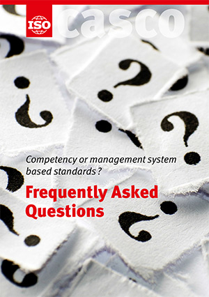 Cover page: Competency or management system based standards ? Frequently Asked Questions