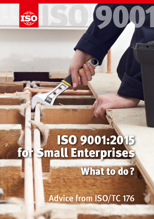 Cover page: ISO 9001:2015 for Small Enterprises - What to do?