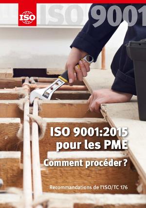 Page de couverture:  ISO 9001:2015 pour les PME – Comment procéder ?